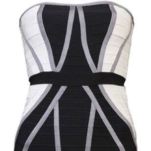 Herve leger strapless dress size small